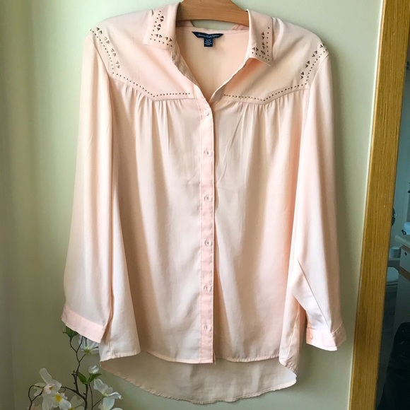 AE Western Style Button Down Top